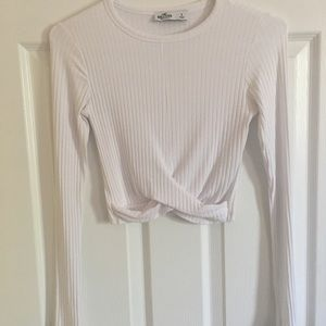 Hollister Twist-Front Long Sleeve Top